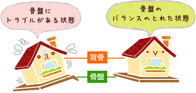 house=背骨,earth=骨盤