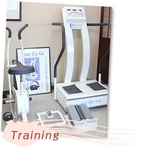 トレーニング設備の写真